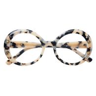 Electra Round Optical Glasses - Black & White image