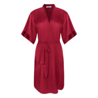 Luxe Kimono Robe - Red image