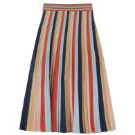 Denîmes - Maxi Skirt In Multi Colour Stripes image