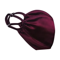 Triple Layer Adjustable 100% Silk Face Mask W/ Filter Pocket & Nose Wire Plum image