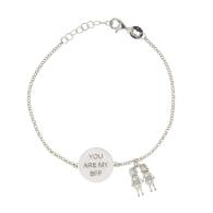 Sterling Silver Bff Best Friend Bracelet image