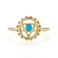 Throat Chakra Ring - Gold image