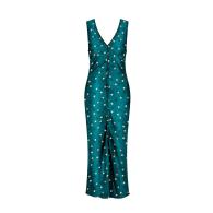 PORTSEA DRESS TEAL STARS image