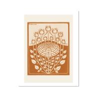 De Graag Pink Rosebuds Art Print A4 image