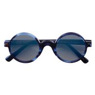 Thalassa Round Sunglasses - Blue & Mirror image