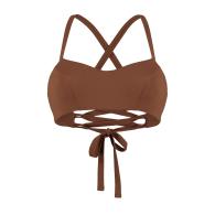 Positano Underwired Bikini Top with Adjustable Back Straps - Burnt Umber image