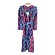 Women'S Hooded Dressing Gown - Multicolour image