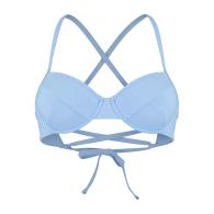 Amalfi Classic Adjustable Bikini Top - Sky Light Blue image