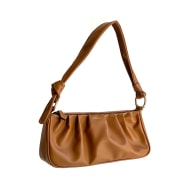 Cactus Leather Small Shoulder Bag Brown image