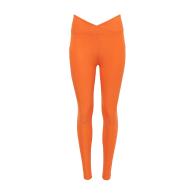 Tangerine Ruched Crossover Pocket Legging image