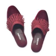 Chalet Handmade Velvet Slippers - Red image