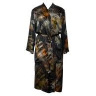Shibori Silk Satin Kimono - Autumn Hue 1 image