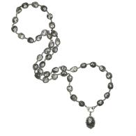 Black Dot Rutile Quartz Diamond Necklace image