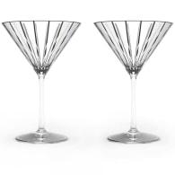 Pair Of Crystal Martini Glasses image
