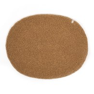 Hand Knitted Place Mat Set Of 4 - Tobacco image