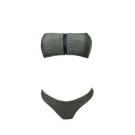 Miss Glamorous Bikini Set With Zipper - Khaki Green image