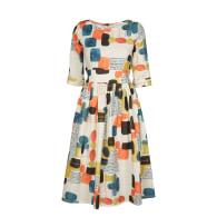 Philippa - Pebbles Smock Dress Cotton - Linen Blend image