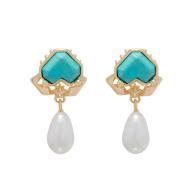 Shellbi Crab Drop Earring - Turquoise image