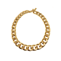 Gold Chunky Chain Necklace image