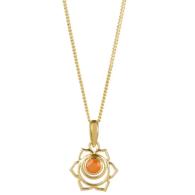 Sacral Chakra Necklace - Gold image