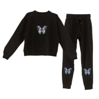 Embroidered Butterfly Lounge Set image