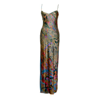 Faultline Silk Slip Dress image