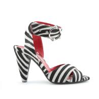 Montana Black & White Zebra Print Sandals image