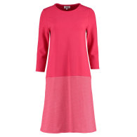 Organic Cotton Jersey Dress In Red Magenta Colour image