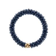 Beaded Gemstone Bracelet - Dark Blue Jade & Gold image