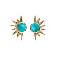 Total Eclipse Studs - Gold Turquoise image