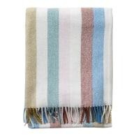 Recycled Wool Blanket In Rainbow Stripe image