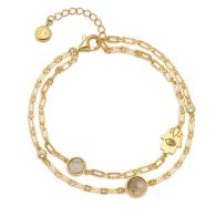 Double Strand Hamsa Bracelet in Labradorite image