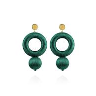 Saskia Earrings In Spanish Emerald image