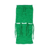 2 in 1 Ruched Mini Midi Skirt - Green image