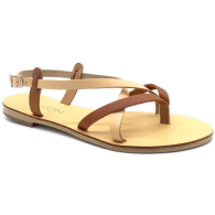 Comfortable Leather Sandals Calliope Nude-Tan image