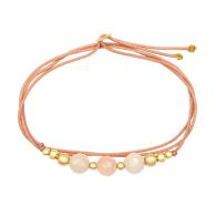Summer Solstice Morganite & 14K Solid Gold Bracelet image