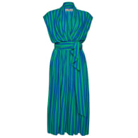 The Point Dress - Whippy Stripe Green/Blue image