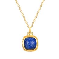 22Ct Gold Vermeil Lapis Lazuli Medallion Necklace image