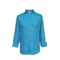Petrol Blue Hemp Shirt image