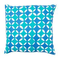 Peacock crosses linen cushion image