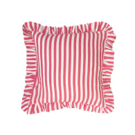 Cherry Red Candy Stripe Cushion Cover image
