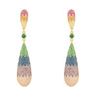 Latelita Coco'S Long Drop Earring - Rainbow Gold image