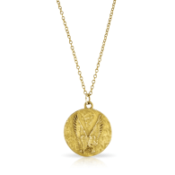 The Leap Of Faith Necklace - Gold image