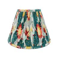 Thrive Tropical Gathered Cotton Lampshade 25cm image
