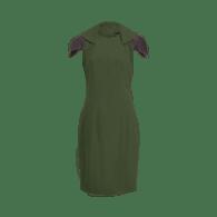 The Zip Collar Dress - Green image