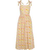 The Summer Dress In Citrus Dragon Flower image