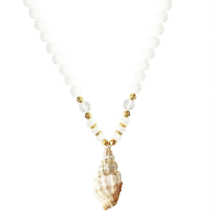 Mother Of Pearl And Jade Shell Necklace image