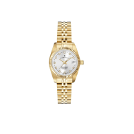 Jacques Du Manoir Swiss Made Inspiration Silver Dial Gold IP Case And Bracelet 26mm Watch With Date image