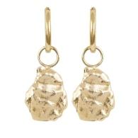Medium Molten Coral Rock Earrings image