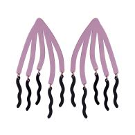 Jellyfish Statement Earrings - Lavender & Deep Blue image